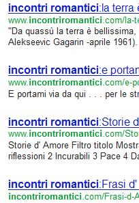 incontri romantici