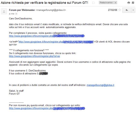 iscrizione forum gt