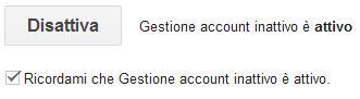 gestione account google inattivo